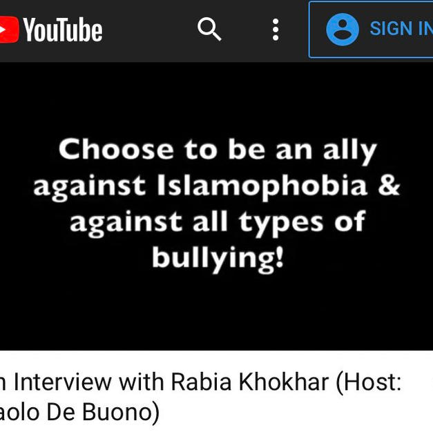 An Interview with Rabia Khokhar (Host: Paolo De Buono)