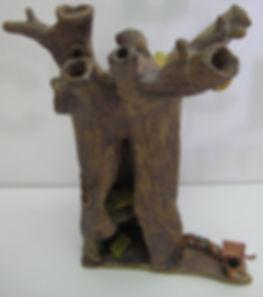 Miniature ceramic tree house