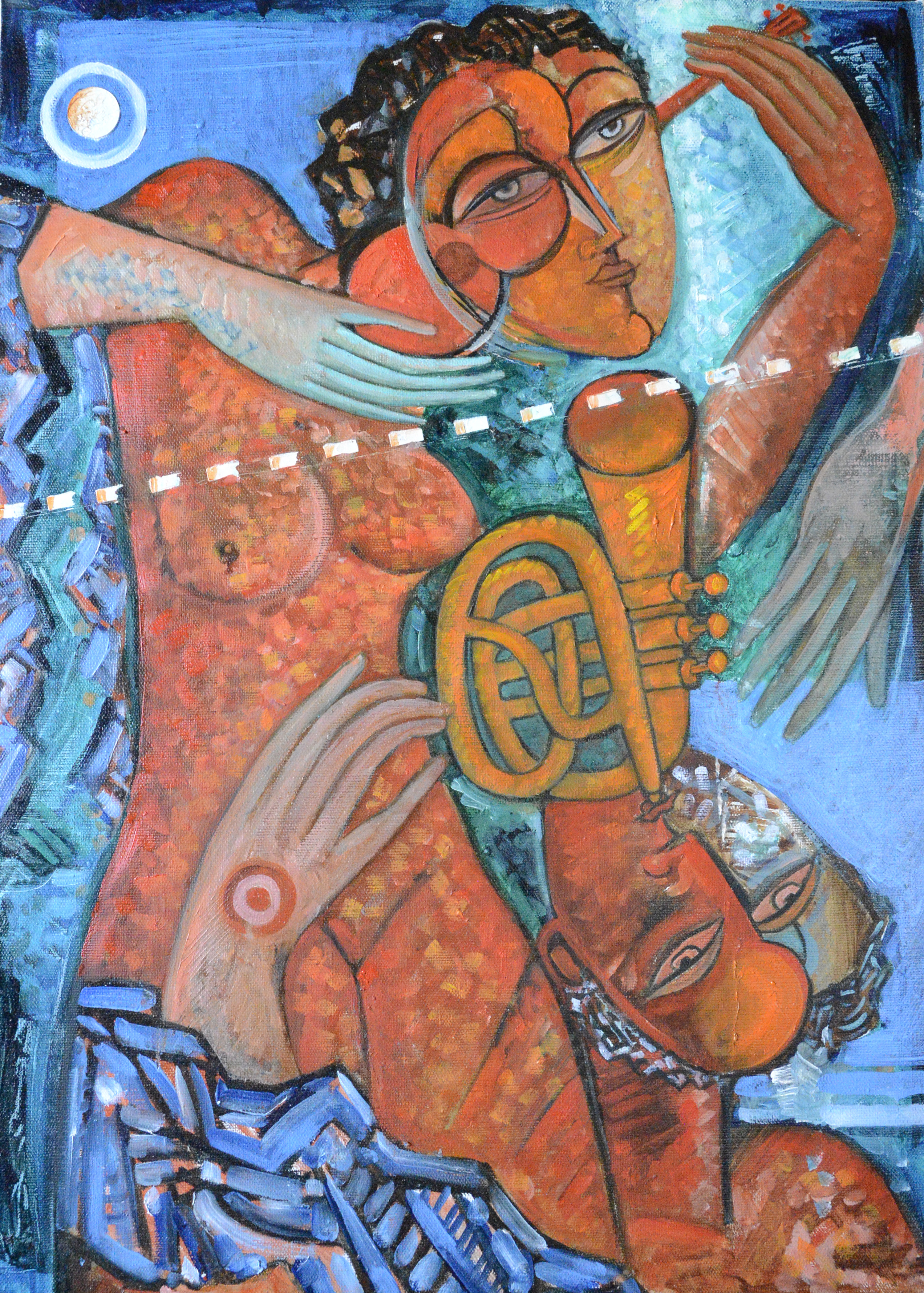 Musicians 20x27.5 inches,oil on canvas
