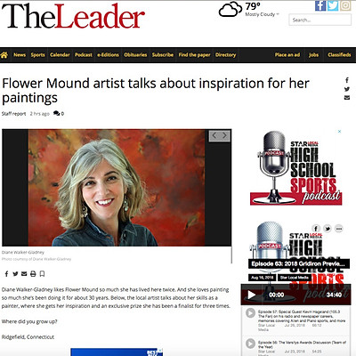 """""""Flower Mound Artist Talks About Inspiration For Her Paintings"""""""