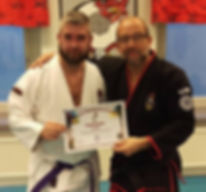 Fredrik Borgersen And Ingmar Johansson Purple Belt Grading