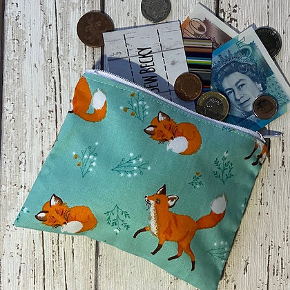 Turqouise Fox Purse TSB