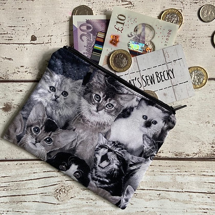 Black & White Cat Purse TSB