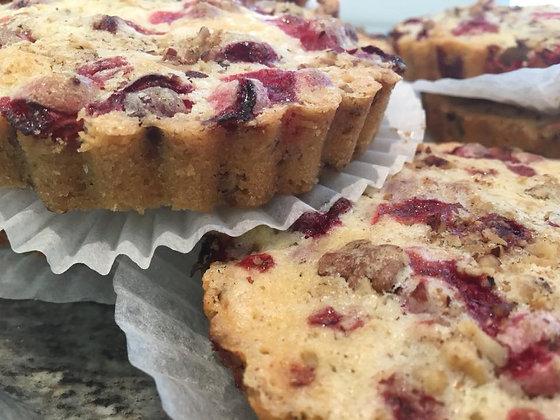 Fresh Cranberry Walnut Tart