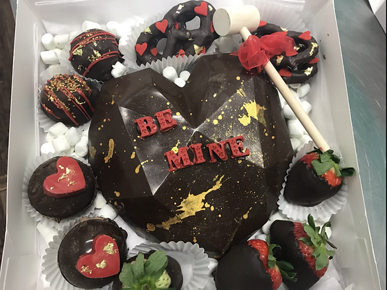 Valentines Day Pre order...Breakable heart with chocolate covered strawberries