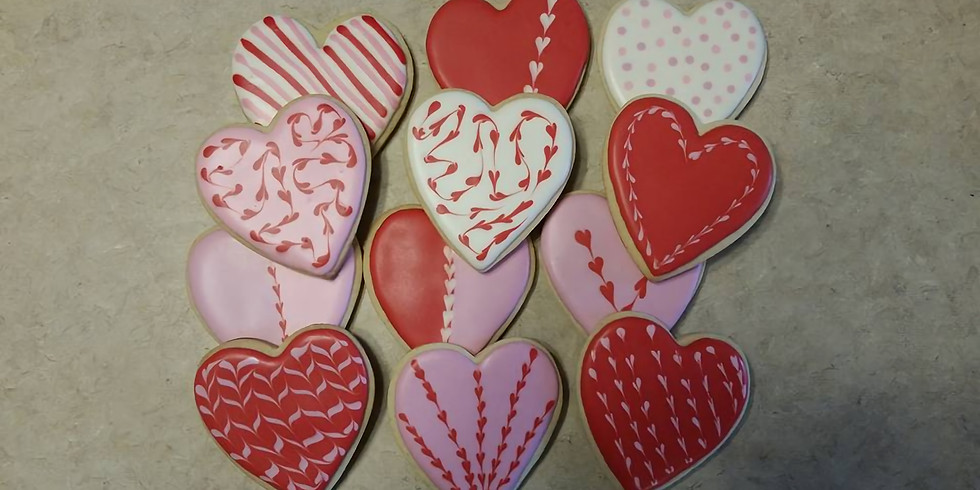 Valentine's Day Cookie Decorating with Jill Perez from Just a Crumb, Decorated Cookies