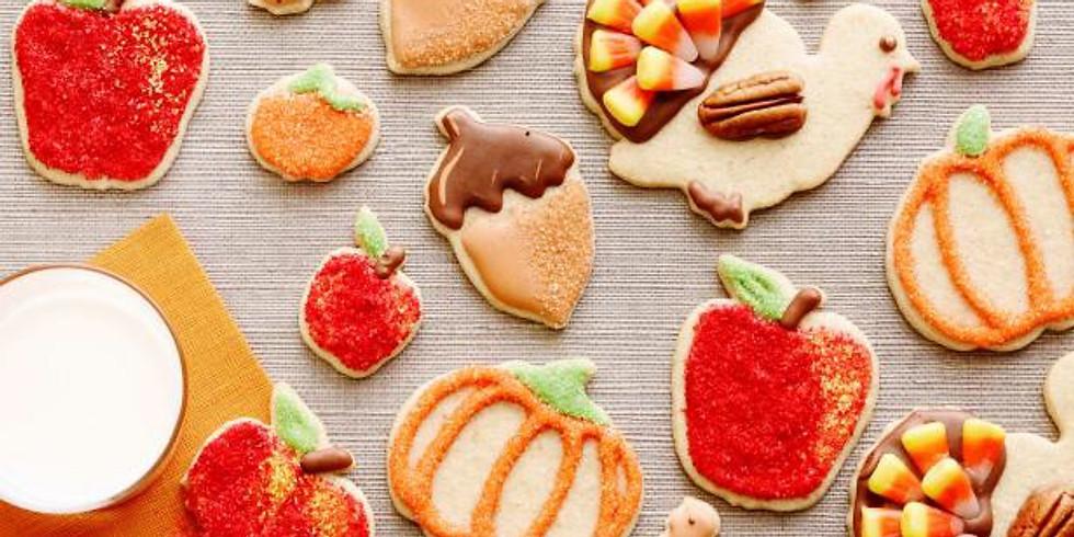 Kids class Thanksgiving Sugar cookies