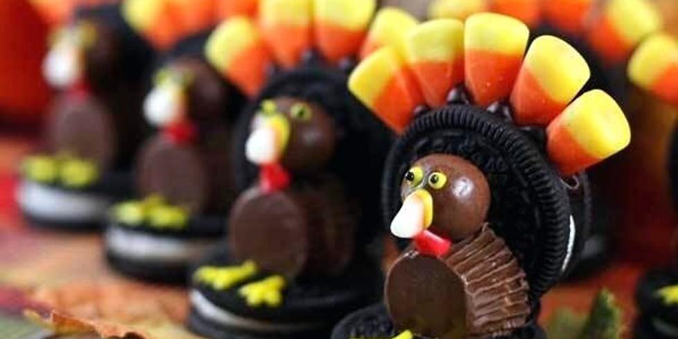 Kids Class Thanksgiving candy