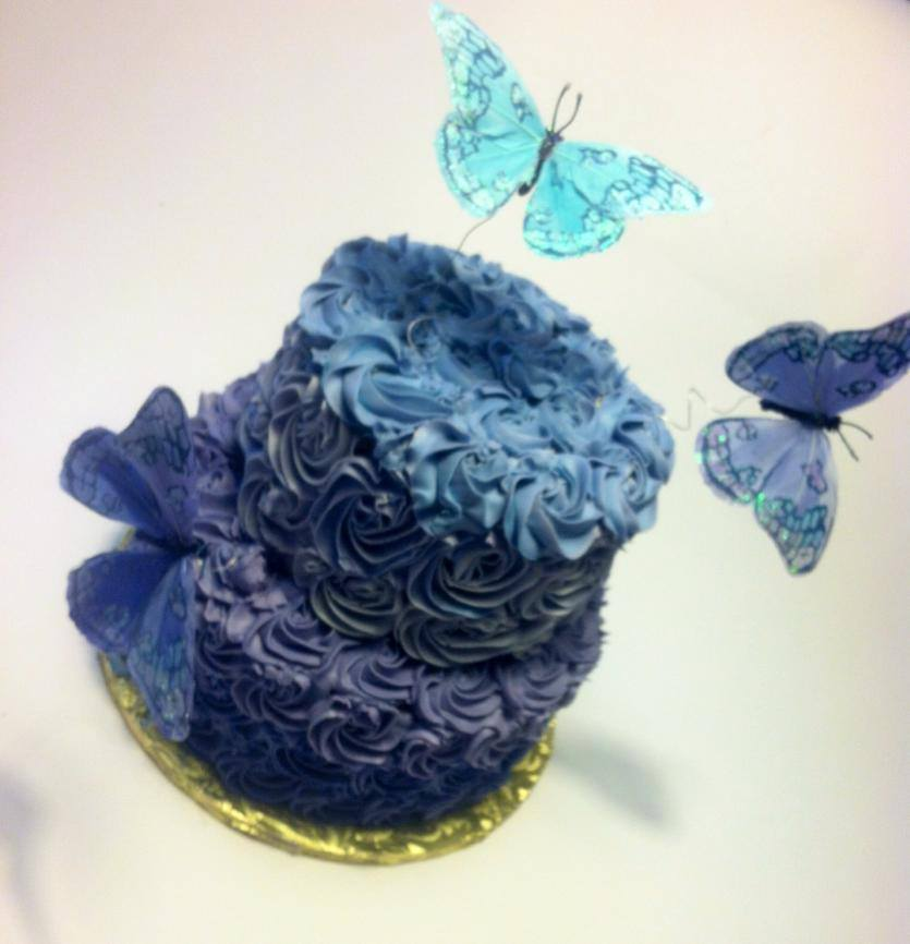 Butterfly Ombre' Cake