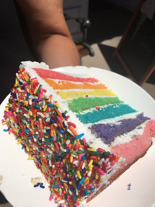 8 inch  Rainbow cake preorders