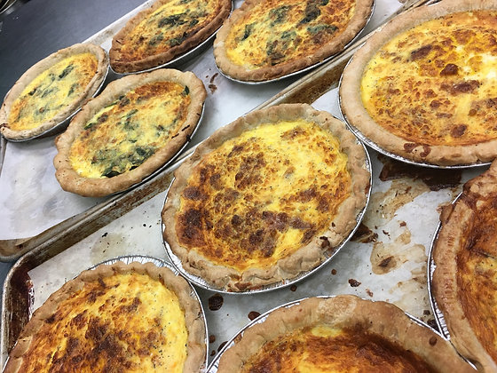 Quiche bacon cheddar caramelized onion