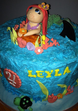 Mermaid and Shark Cake