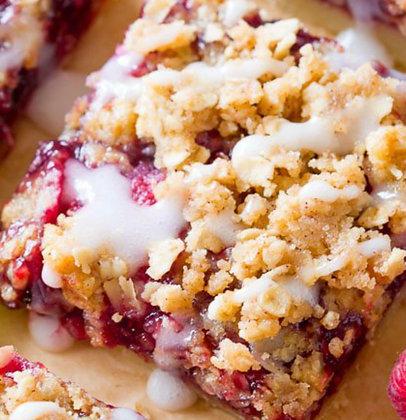 Raspberry oat bar