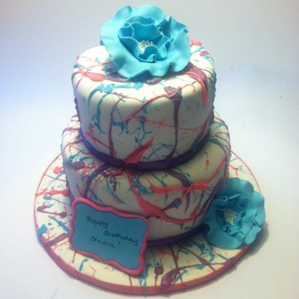Artist Splatter Cake