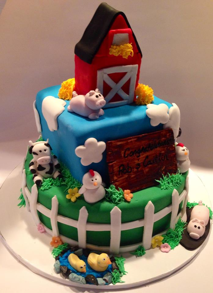 Barnyard Baby Shower Cake