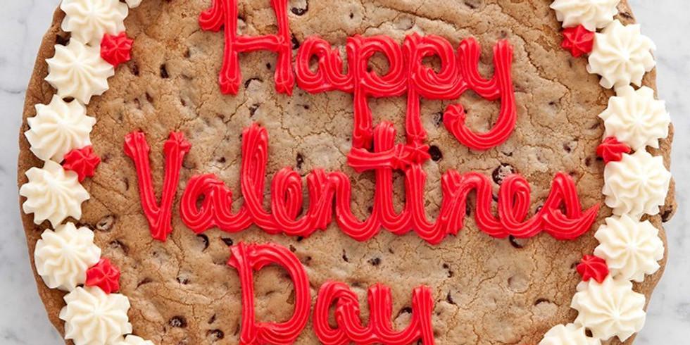 Valentines Chocolate Chip Cookie Cake