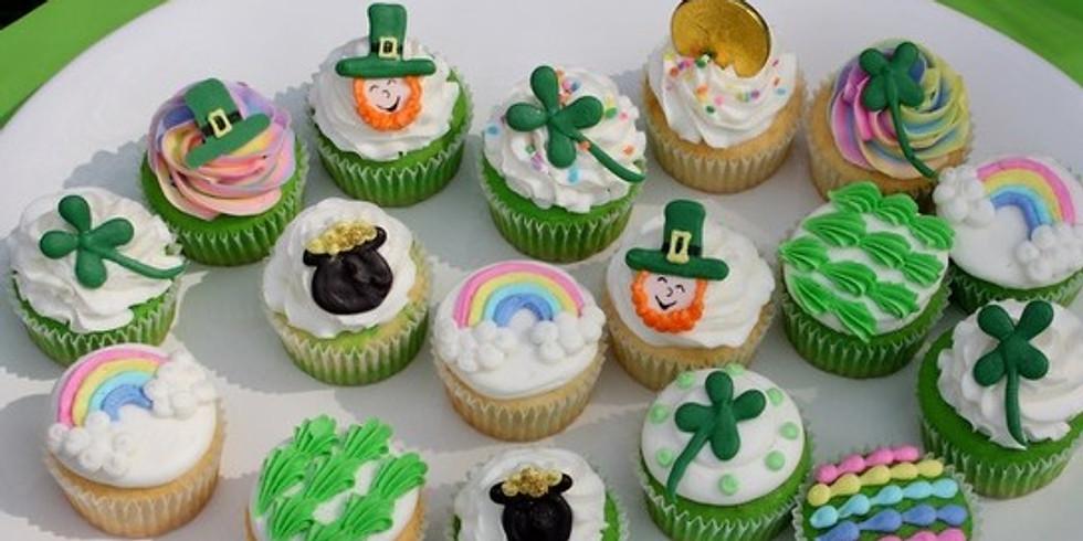 Kids St Paddy Day Cupcake Decorating
