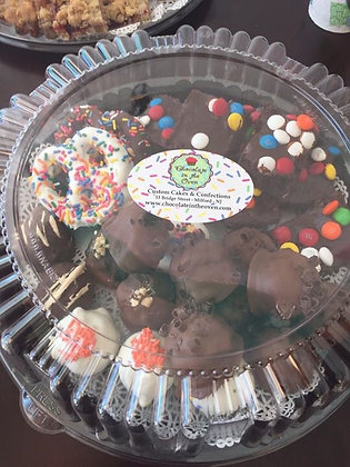 Belgian Chocolate Candy, Cake Cutie & brownie Platter available week of 10/24