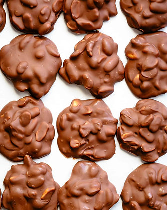 Chocolate covered peanut clusters 1 pound