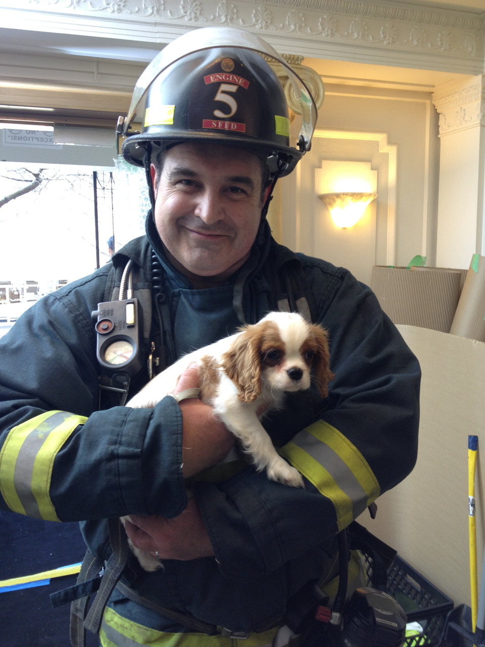 Fireman and his puppy. Calendar coming soon!