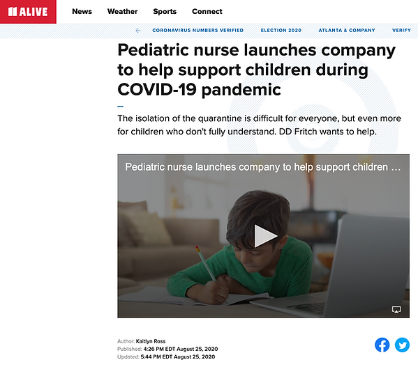 In The Press Pediatric nurse launches company to help support children during COVID-19