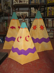 Collapsible teepee's for Peter Pan