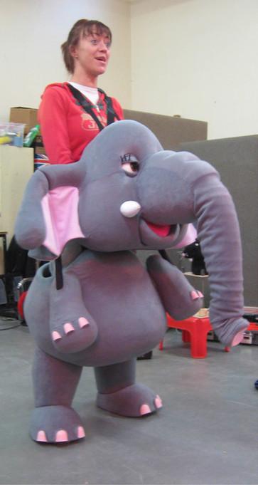 Elephant Puppet for The Elephant Bridesmaid