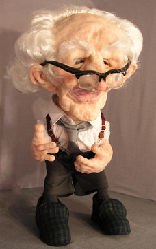 Grandad stop frame animation puppet