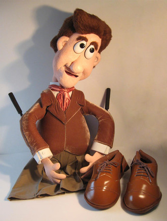 Bob Cratchit Puppet for A Christmas Carol with Puppets