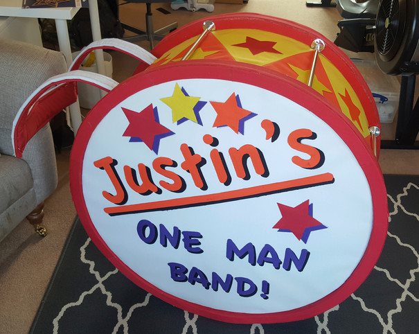Bass drum for Justin's Band tour