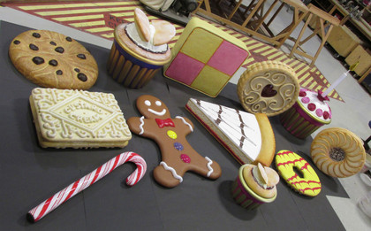 Oversized Biscuits and cakes for a dance routine. (Collaborative project with Kerry Sumner)
