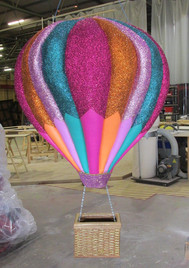 Hot air balloon low relief model