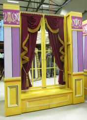 Swags and tails set dressing