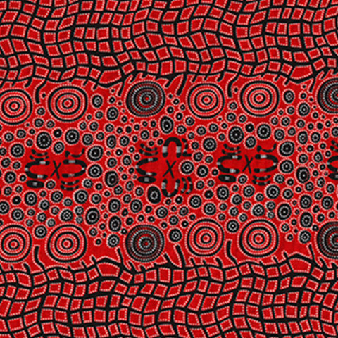 FABRIC  Fire Dreaming Red  (1 x 2 metres)