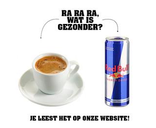Redbull VS. koffie!