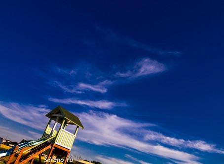 出張女性カメラマン・空の写真を撮りました