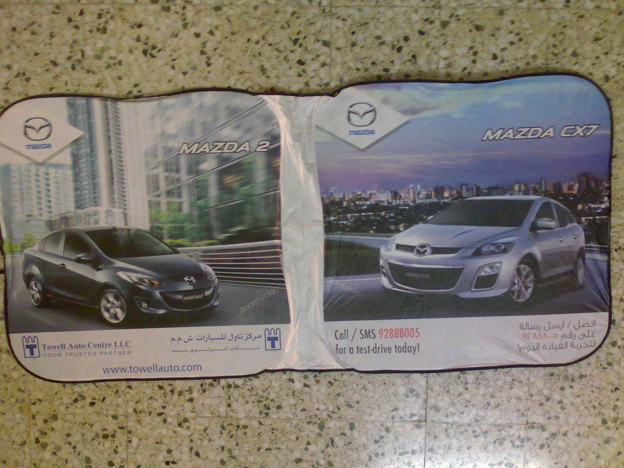Square Mazda Sunshade