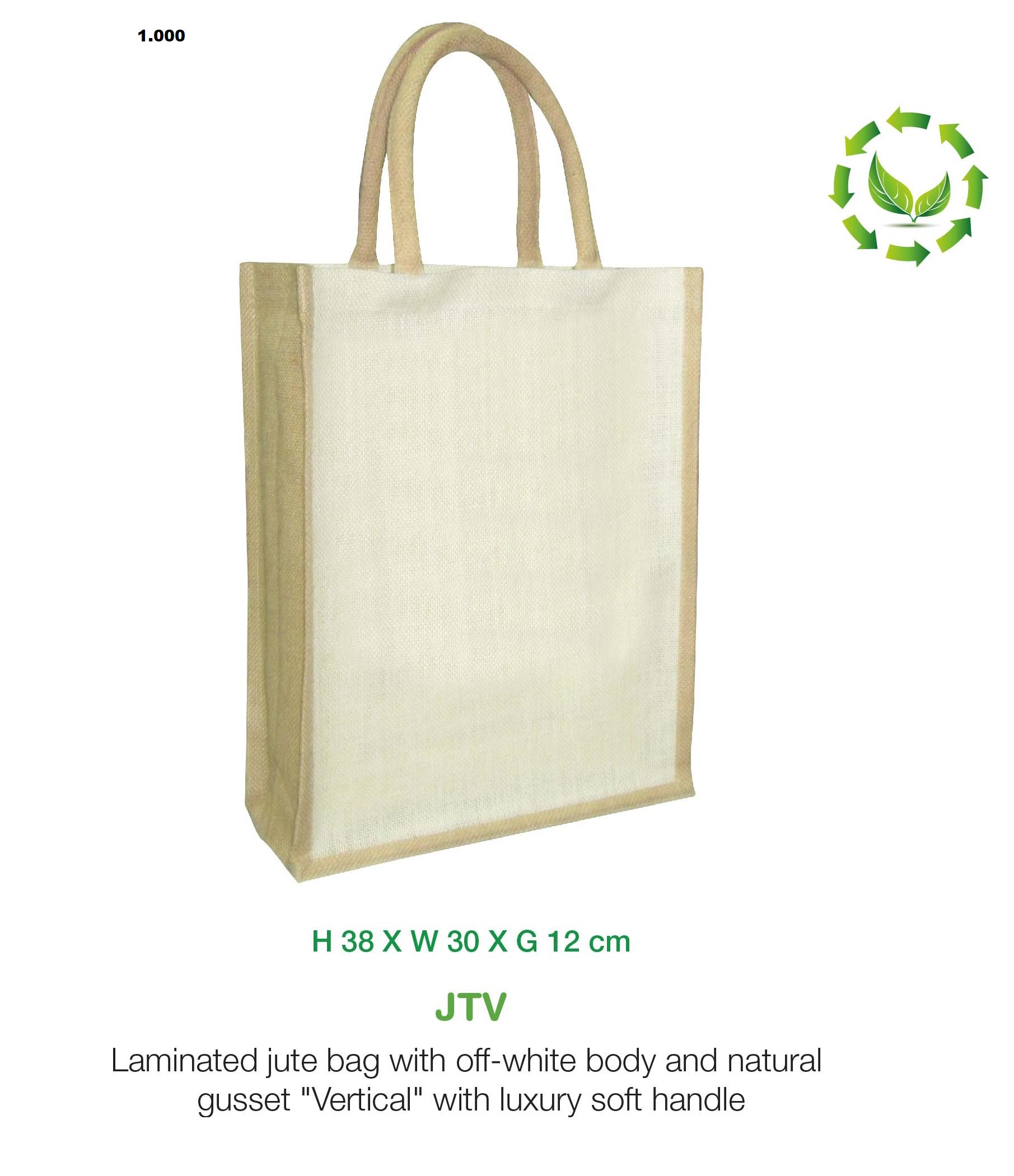 Two tone vertical Jute bag