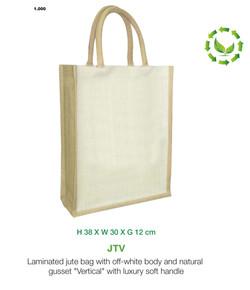 Two tone vertical Jute bag