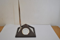 Clock with pen stand