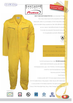 Stain Resistant Coverall in yellow