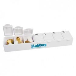 Weekly pill dispenser