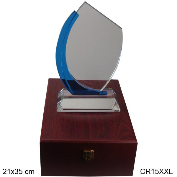 Crystal Award w/ wooden stand