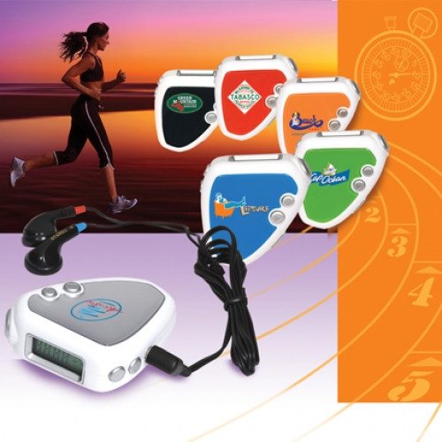 Fitness pedometer with FM