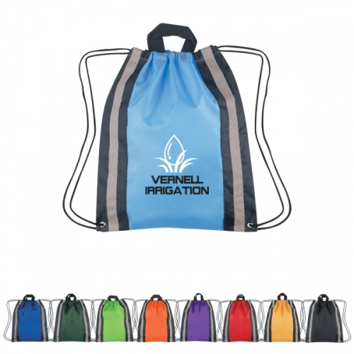 String bag with reflective strip