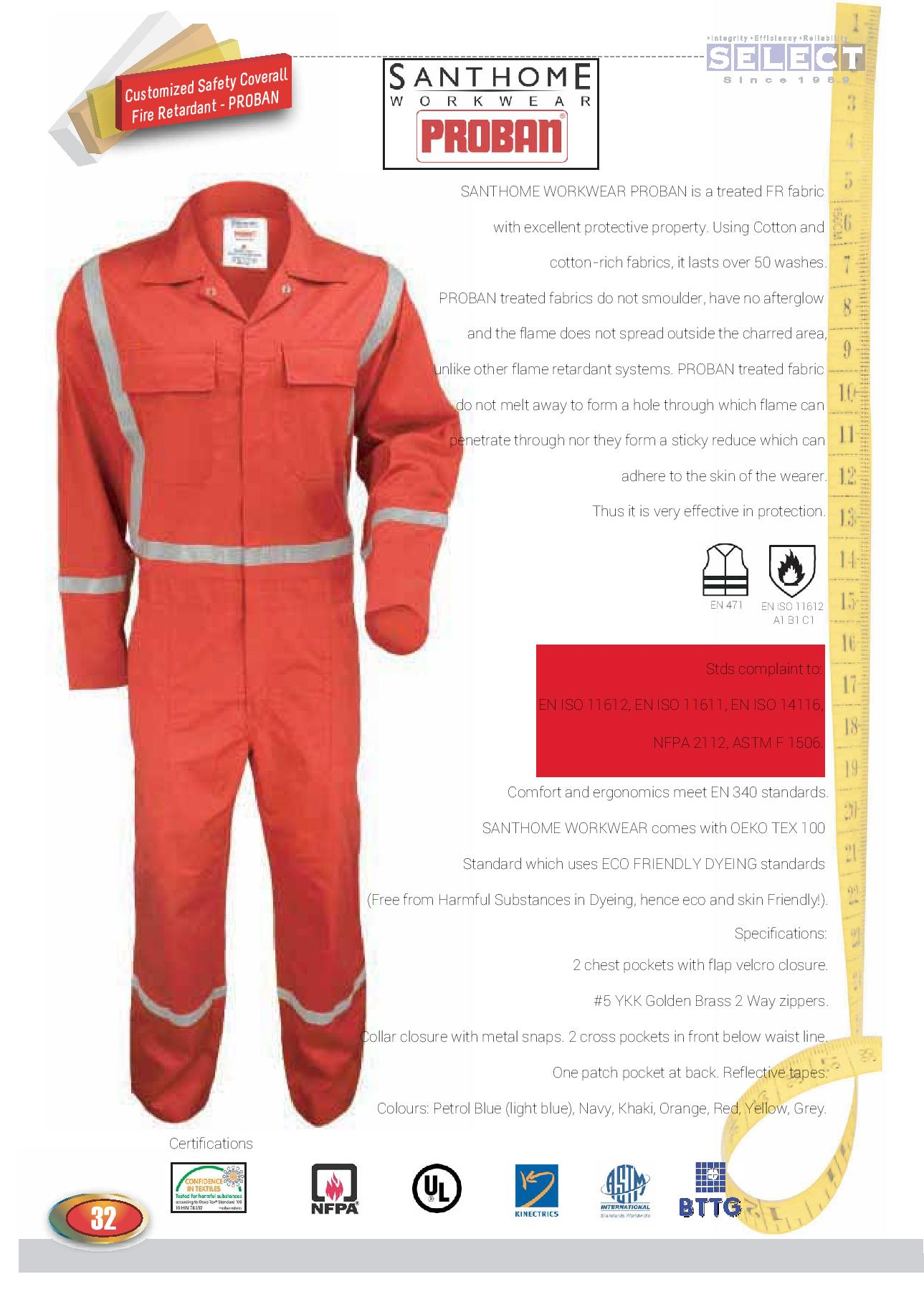 Coverall with Light Reflector Strips