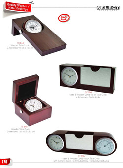 Clock with Card Holder