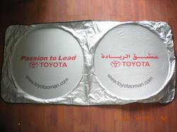 Toyota Silver Sunshade