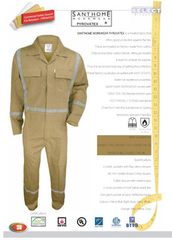 Coverall with Light Reflector Stripo