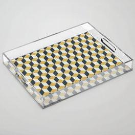 Making Marks Cube Illusion Blue Acrylic Tray
